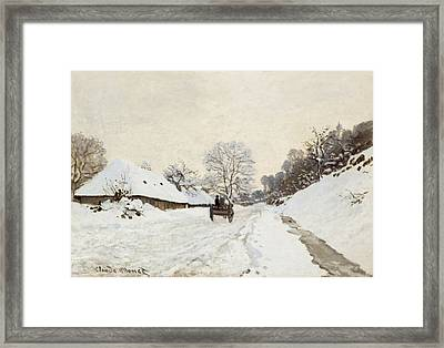 The Cart Framed Print by Claude Monet