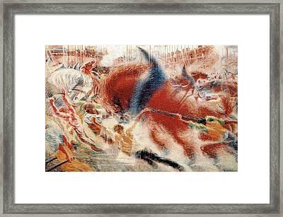 The City Rises Framed Print by Umberto Boccioni