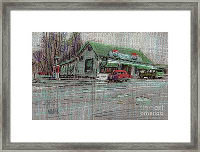 The Cracker Barrel Framed Print by Donald Maier