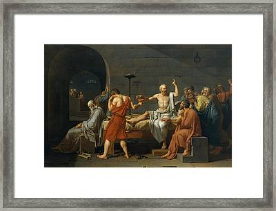 The Death Of Socrates Framed Print by Jacques Louis David