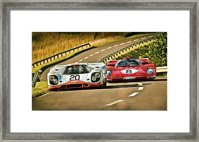The Duel Framed Print by Peter Chilelli