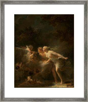 The Fountain Of Love Framed Print by Jean-honore Fragonard