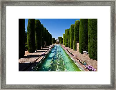 The Gardens Of The Alcazar De Los Reyes Framed Print by Panoramic Images