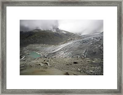 The Glacier Framed Print by Angel  Tarantella