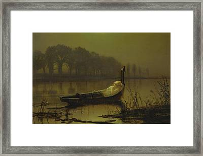 The Lady Of Shalott  Framed Print by John Atkinson Grimshaw