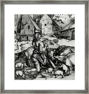 The Prodigal Son Framed Print by Albrecht Durer or Duerer