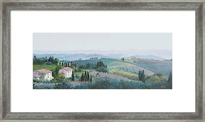 The Rolling Hills Of Tuscany Framed Print by Jan Matson
