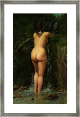 The Source  Framed Print by Gustave Courbet