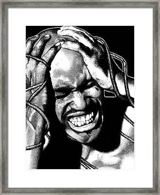 The Struggle Framed Print by Keith Burnette