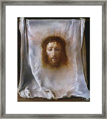 The Veil Of Veronica Framed Print by Domenico Fetti