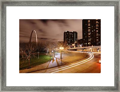 Theatrical Lights Give The Surface Framed Print by Jim Richardson
