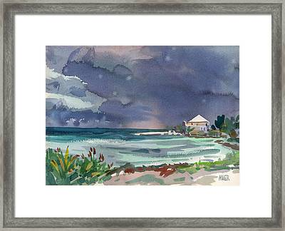 Thunderstorm Over Key West Framed Print by Donald Maier