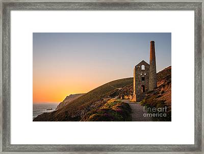 Tin Mine At St. Agnes, Cornwall, England Framed Print by Amanda And Christopher Elwell