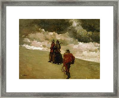 To The Rescue Framed Print by Winslow Homer