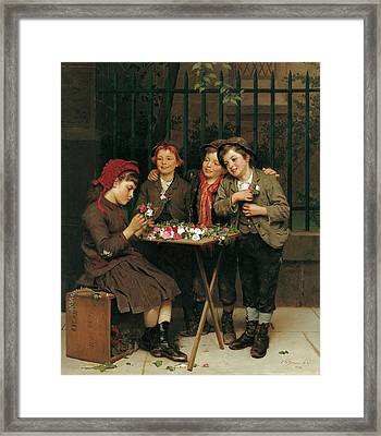 Tough Customers Framed Print by John George Brown