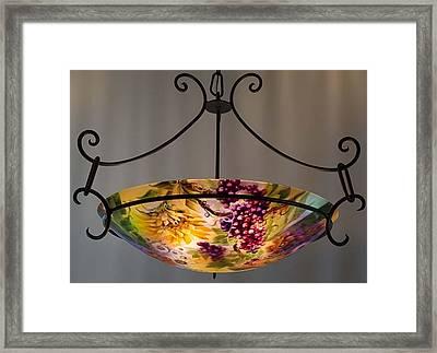 Tuscany Garden Hand Painted Chandelier By Jenny Floravita Framed Print by Jenny Floravita