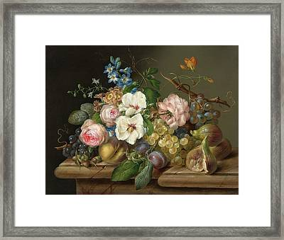 Two Flower Still Lifes Framed Print by Franz Xaver