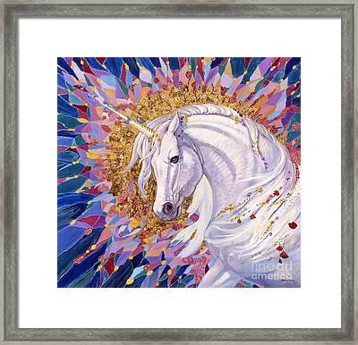 Unicorn II Framed Print by Silvia  Duran