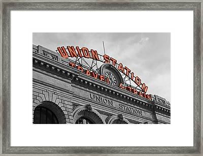 Union Station - Denver  Framed Print by Mountain Dreams