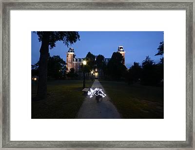 University Of Arkansas Framed Print by Chris  Look
