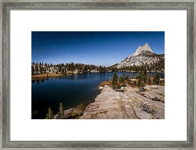 Upper Cathedral Lake Framed Print by Cat Connor