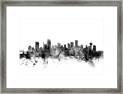 Vancouver Canada Skyline Framed Print by Michael Tompsett