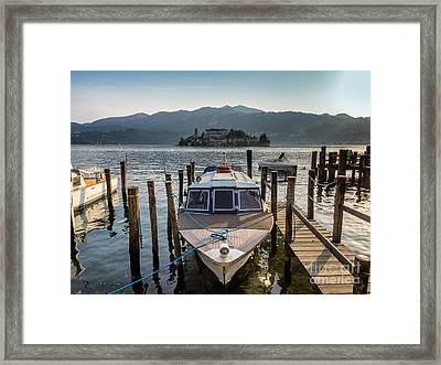 View Of The Island Of San Giulio In Lake Orta Framed Print by Frank Bach