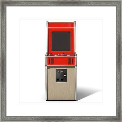 Vintage Arcade Machine Framed Print by Allan Swart