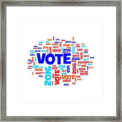 Vote Usa 2016 Framed Print by Henrik Lehnerer