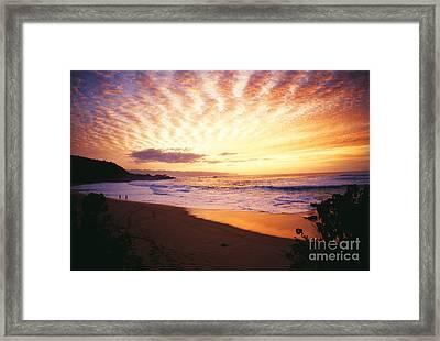 Waimea Bay Sunset Framed Print by Bob Abraham - Printscapes