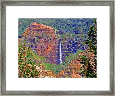 Waimea Canyon 2 Framed Print by Ellen Henneke
