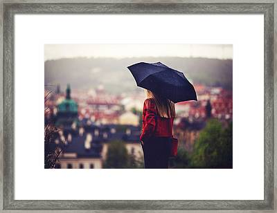 Watching Over Prague Framed Print by Cristian Todea