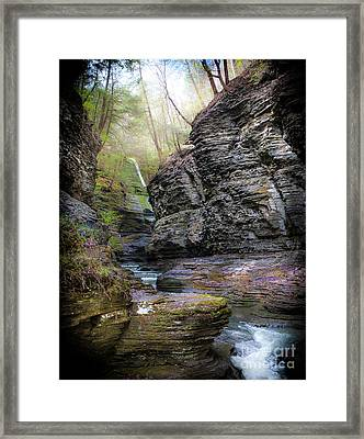 Watkins Glen Framed Print by Ken Marsh