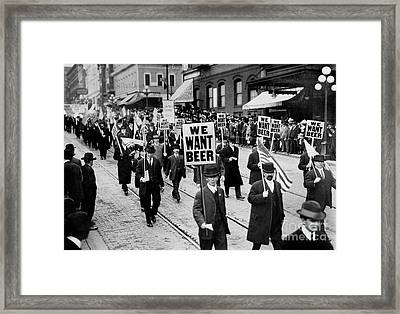 We Want Beer Framed Print by Jon Neidert
