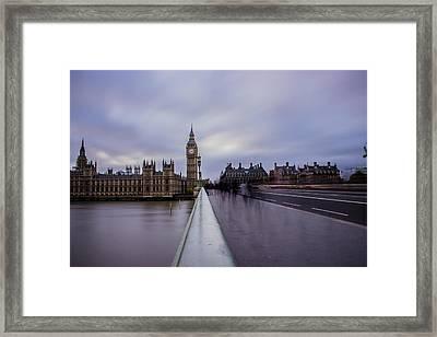 Westminster Bridge Framed Print by Martin Newman