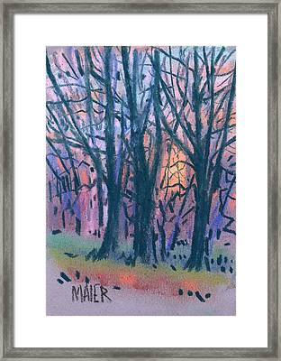 Winter Sunset Framed Print by Donald Maier