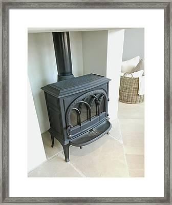 Wood Burning Stove Framed Print by Tom Gowanlock