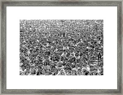 Woodstock Music & Art Fair Framed Print by Baron Wolman