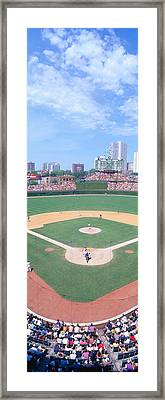 Wrigley Field, Chicago, Cubs V Framed Print by Panoramic Images