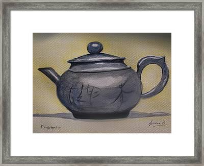 Yixing Teapot Framed Print by Jean Billsdon