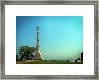 York Town Victory Monument Framed Print by Skip Willits