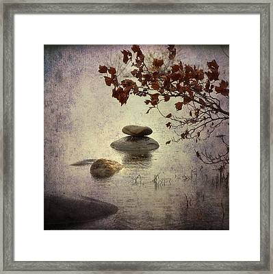 Zen Stones Framed Print by Joana Kruse