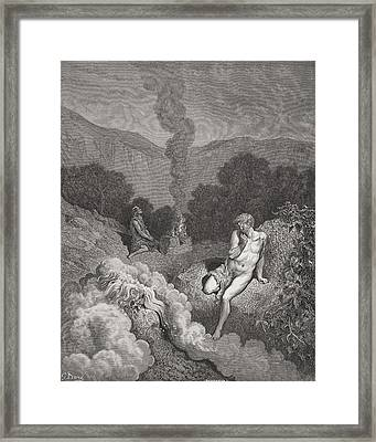 Engraving From The Dore Bible Framed Print by Vintage Design Pics
