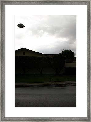 2004 Ufo Hovering Over My House Framed Print by Michael Ledray
