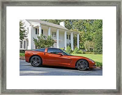 2005 Corvette C6 Framed Print by John Black