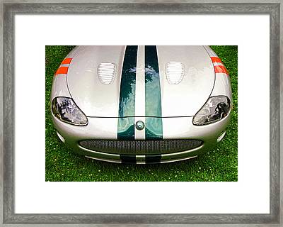 2005 Jaguar X K R Stirling Moss Signature Edition Framed Print by Allen Beatty