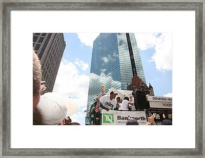 2008 Boston Celtics Victory  Parade Framed Print by Rose Martin