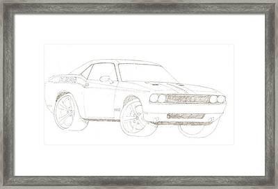 2009 Dodge Challenger Framed Print by David Fields