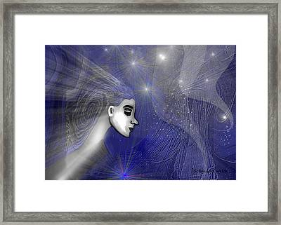201 -   Traveling  Through   Veils Of Universe Framed Print by Irmgard Schoendorf Welch