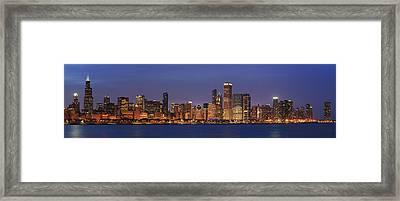 2010 Chicago Skyline Framed Print by Donald Schwartz